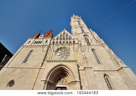 Budapest Hungary Europe - St.Matthias church facade scenic view