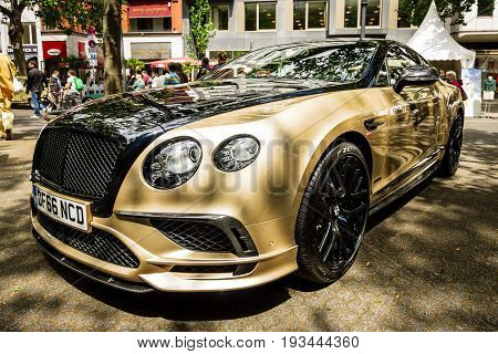 BERLIN - JUNE 17 2017: Personal luxury car Bentley Continental Supersports 2017. Classic Days Berlin 2017.