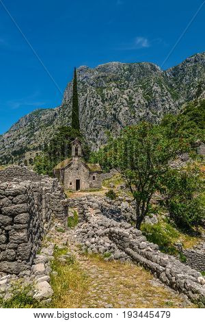 Ancient Serbian Church Ruins