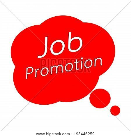 Job promotion TEXT White Wording on Speech Bubbles Red Background