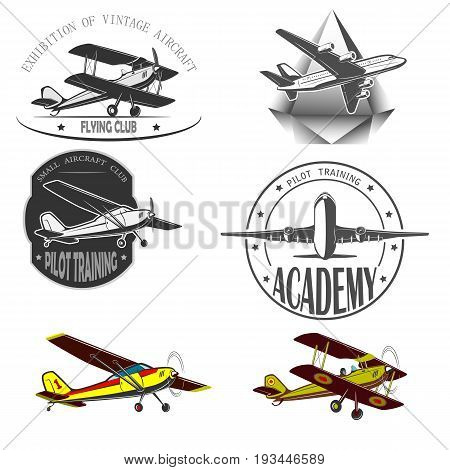 The set consists of retro airplanes and modern airliners.  The set consists of retro airplanes and modern airliners.