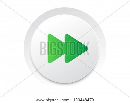 Simple Ui Music Interface Circle Fast Forward Button Vector.
