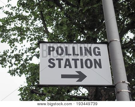 Polling Station In London