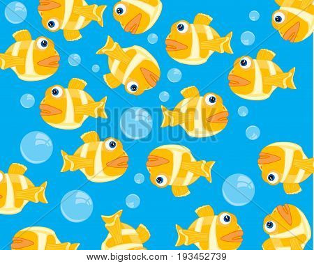 Water fish background and bladders of the air