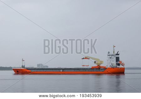 MERCHANT VESSEL - Cargo ship on the sidewalk