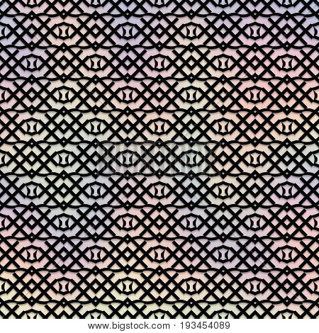 Holography wallpaper. Retro backdrop. Multicolor design. Avant-garde illustration. Vintage graphic. Abstract pattern. Graphic ornament. Hipster print. Futuristic background. Geometry art. Vector.