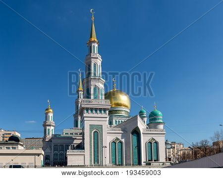The Golden dome a new Moscow Cathedral mosque