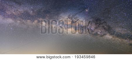 Clearly milky way on night sky with a million star