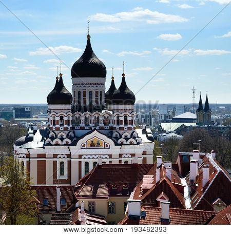 View on Alexander Nevsky Cathedral in Tallinn, Estonia