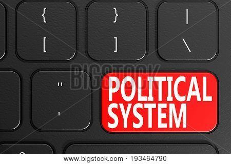 Political System On Black Keyboard