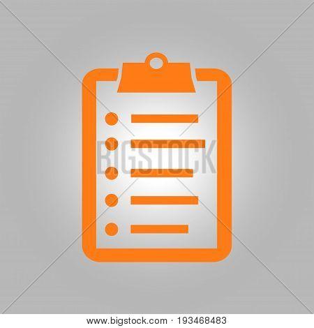Check list vector icon. Shopping list token. Flat design style.