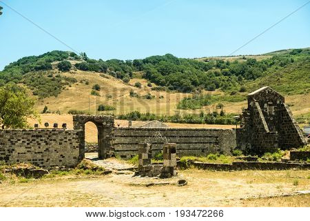 Romanesque church in northern Sardinia Sassari Province. Itay.