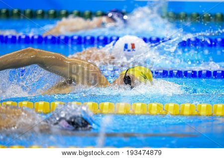 Rio de Janeiro Brazil - august 13 2016: JHORTON Mack (AUS) during men's 1500 metre swimming freestyle of the Rio 2016 Olympics Games Rio 2016