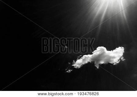 Clouds. Black Background. Isolated white clouds on black sky. Set of isolated clouds over black background. Design elements. White isolated clouds. Cutout extracted clouds.