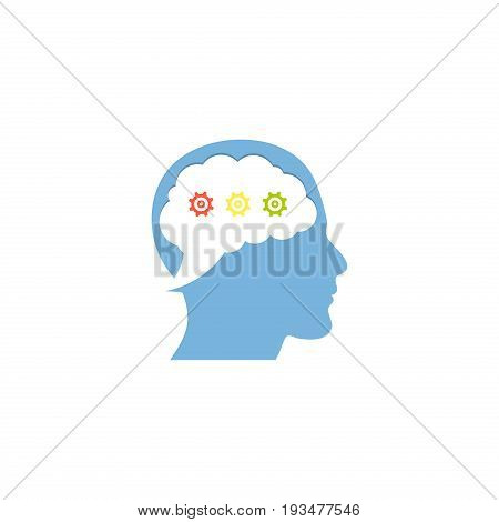 Vector illustration of a Genius Chat on white background