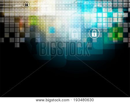 Cyber security and information or network protection. Future cyber technology web services for business and internet project