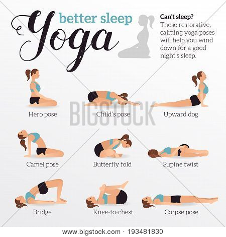 yoga poses better vector  photo free trial  bigstock