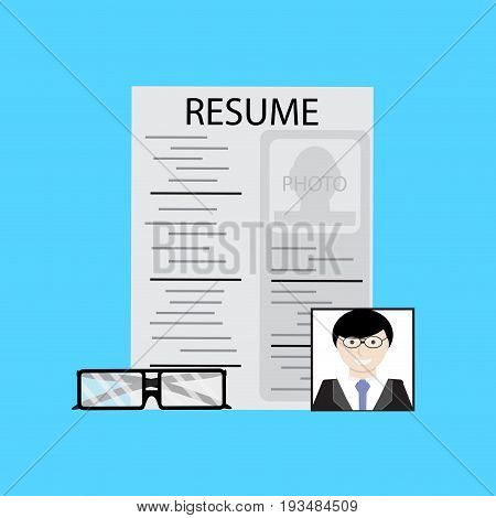 Employment job candidate. Job interview and hiring vector job search illustration of employment and recruitment