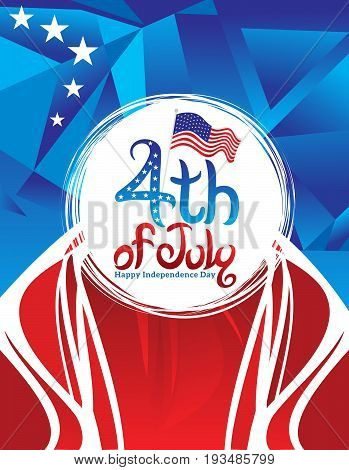 abstract artistic american holiday background vector illustration