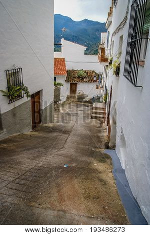 Cityscape In White Town Otivar In Andalucia, Spain