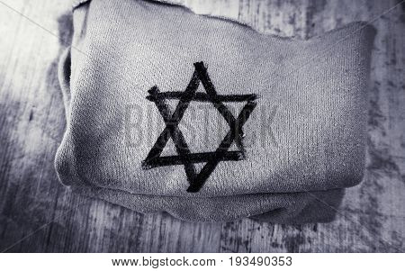 cloth with the star of David, which drew the Nazis in Germany on the Jews during the Holocaust.