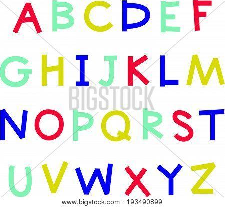 Cartoon English Alphabet.