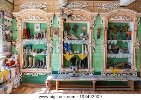 Russian Valenki Felt Boot Museum, Myshkin, Russia