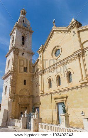 Basilica De Santa Maria At The Central Square Of Xativa