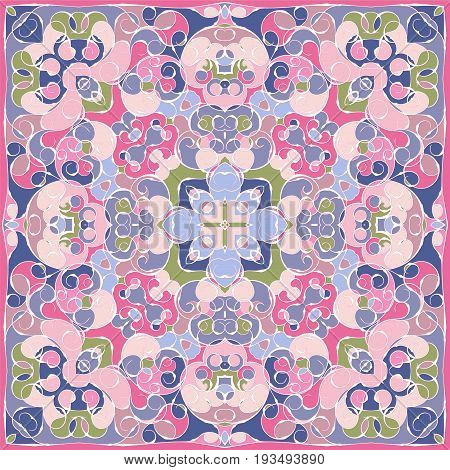 Elegant Square Pink Abstract Pattern.