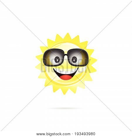 Sun Sweet With Sunglasses Illustration