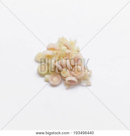 Lemon Grass On White Background