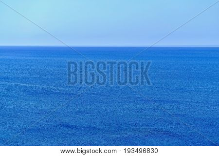 background and texture of the empty sea horizon and the place for the text