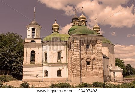 The Church of the Saviour at Berestovo is a church located immediately north of the Monastery of the Caves in an area known as Berestove, Kyiv, Ukraine