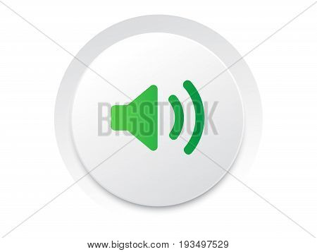 Simple Ui Music Interface Circle Sound Unmute Button Vector.