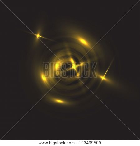 the shining spiral on a black background. the vector image for a background