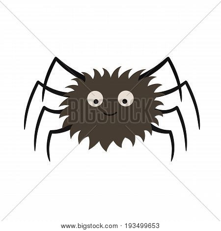 Spider happy. Isolated on white. Vector illustration for children