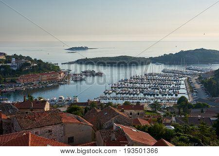 Beautiful View Of Vrsar Port At Sunset-Istria, Croatia
