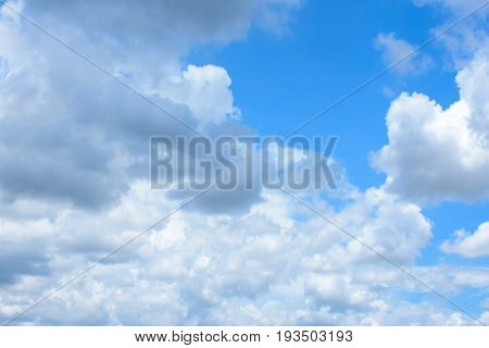 Blue sky background with cloud strom, sky, cloud