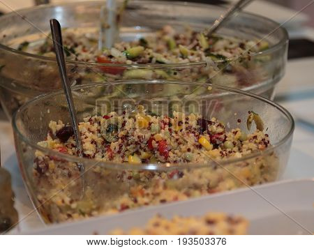 Mile Cereal with Mixed Vegetables inside Glass Bowl