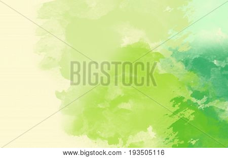 Abstract Water Color Background ,Green nature Paint.