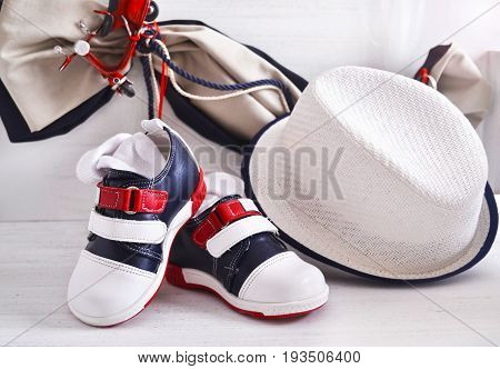 greek Orthodox christening - baby boy clothes, shoes and hat