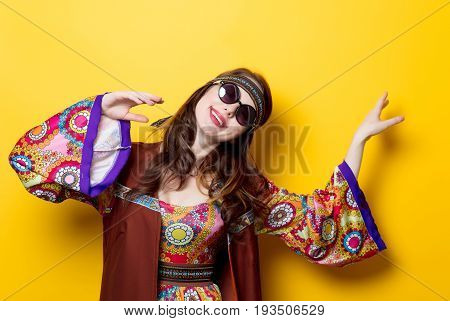 Young Hippie Girl With Sunglasses