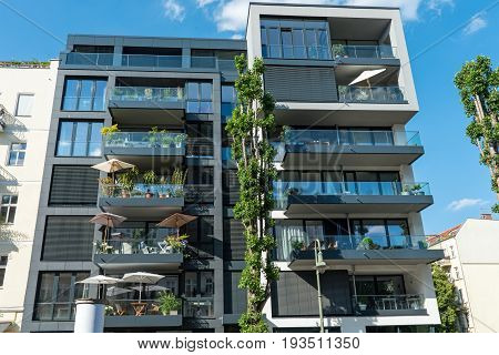 Modern townhouse at the Prenzlauer Berg district in Berlin