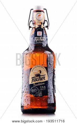 Bottle Of Fischer Traditionr Beer Isolated On White