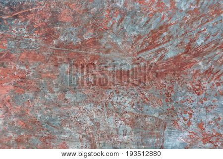 Metal corroded painted rusty grungy texture background. Abstract background.