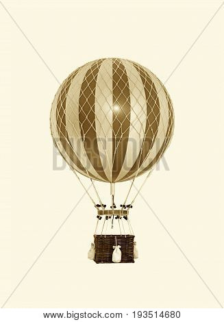 Old fashioned brown helium balloon close up image