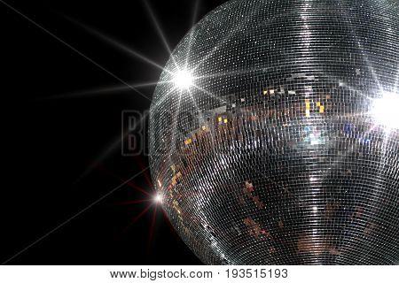 Disco ball , close up image .