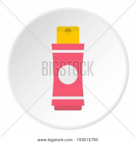 Deodorant icon in flat circle isolated vector illustration for web