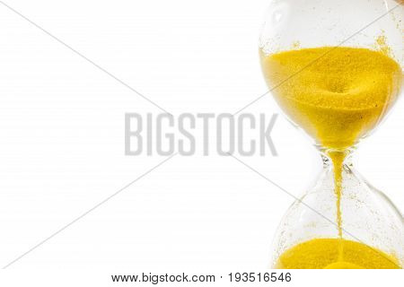 sand glass, hourglass isolated on white background