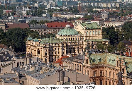 Krakow theatre in urban areas. Poland Europe.